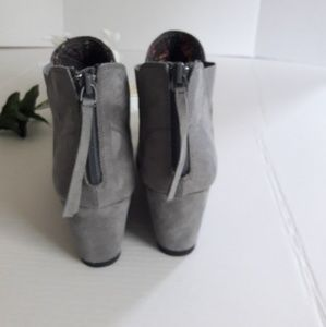 Maurices Shoes - Maurices gray suede wedges ankle boots